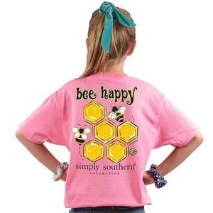 🆕 SIMPLY SOUTHERN YOUTH Bee Happy T-Shirt